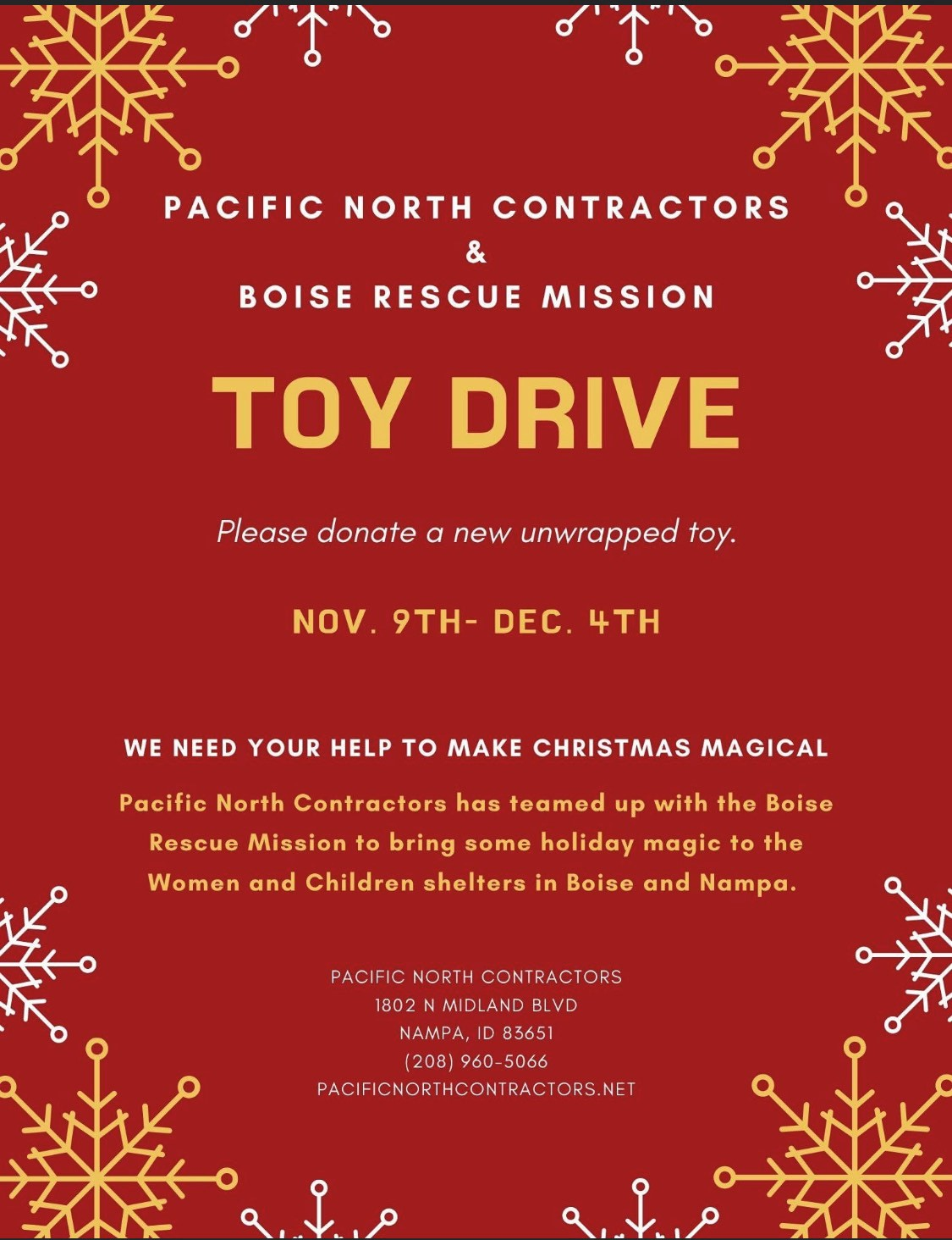 PNC and Boise Rescue Mission Toy drive